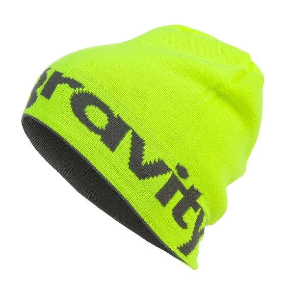 Čiapka Gravity LOGO grey/lime