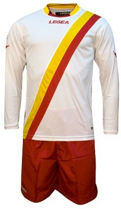 FUTBALOVÝ DRES DELEMONT yellow/red
