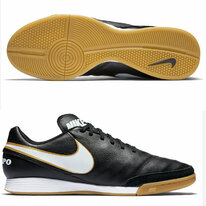 Halová obuv Nike TIEMPO GENIO II LEATHER IC black