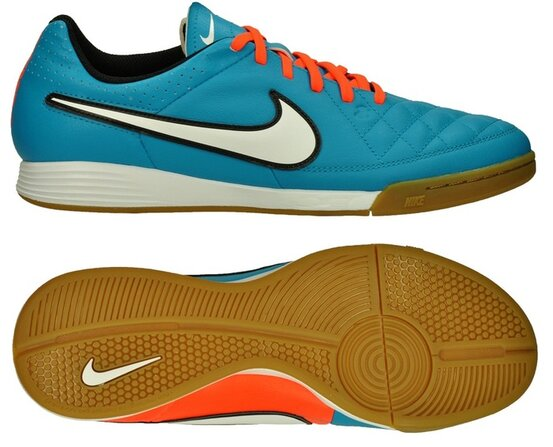 Halová obuv Nike TIEMPO GENIO LEATHER IC blue