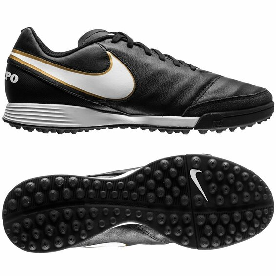 Turfy Nike TIEMPO GENIO LEATHER TF black